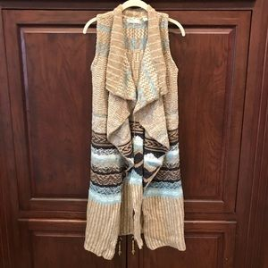 Long Anthro sweater vest size XS/S
